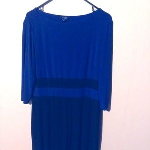 Midi Blue and black dres